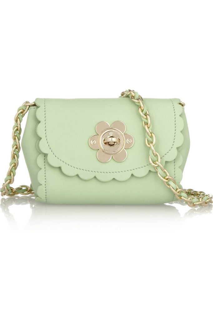 MULBERRYFlower Mini leather shoulder bag