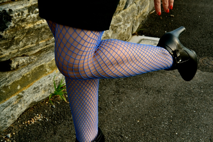 Blue stockings - CRAZY!